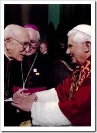 Dom Eugenio Sales com Bento XVI
