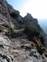 Prehod na planjavo nad planino Dolge njive