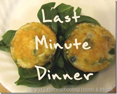 last minute dinner button