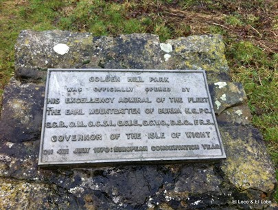 Golden Hill Fort plaque