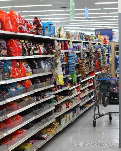 Candy Aisle at Walmart