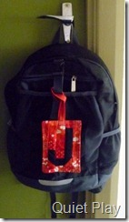 J's school bag