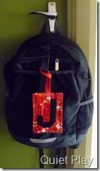 J's school bag