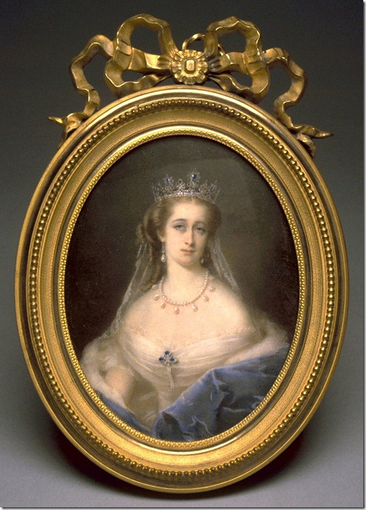 Pierre Paul Emmanuel de Pommayrac (French, 1810-1880). 'The Empress Eugenie,' 1818-1880. watercolor on ivory. Walters Art Museum (38.102): Purchased by Henry Walters, 1895.