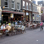 patio in haarlem downtown in Haarlem, Noord Holland, Netherlands