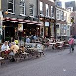 patio in haarlem downtown in Haarlem, Noord Holland, Netherlands