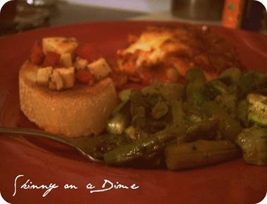 bruchetta asparagus lasanga