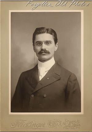 Man with Moustache and Glasses DL Antiques