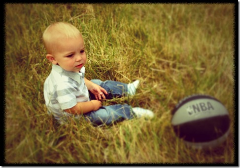 Kaleb in the Grass