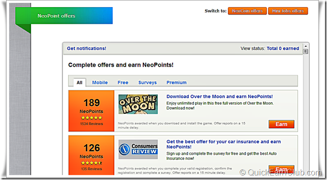 Neobux-Neopoint Offers