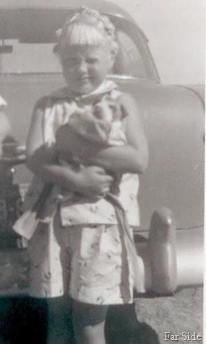 me and a puppy in North Dakota 1957