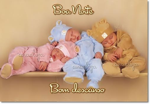 Bebês dormindo Mensagem de boa noite e bom descanç