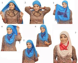 Cara Memakai Jilbab Segitiga  Cantik dan Cute  Cara Memakai Jilbab