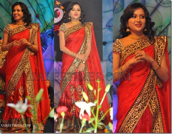 Suma_Red_Saree