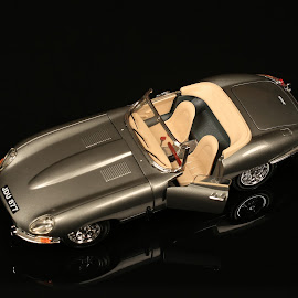 Toy Car  Jaguar E (1961) by Marius Vlad - Artistic Objects Toys ( jaguar, car, macro, toy car, toys )