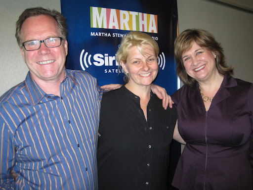 Andrew Dornenburg and Karen Page with their guest Heather Carlucci (center).