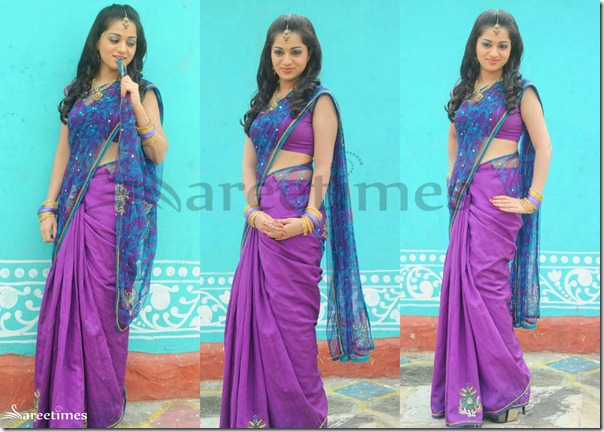 Reshma_Purple_Saree