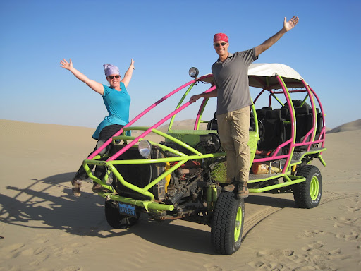 Posing with our dune buggy