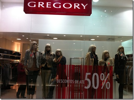 gregory liquidacao inverno 2011 shopping curitiba