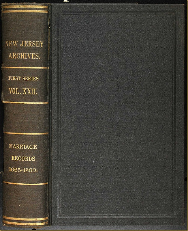 New Jersey, Marriage Records, 1683-1802 2