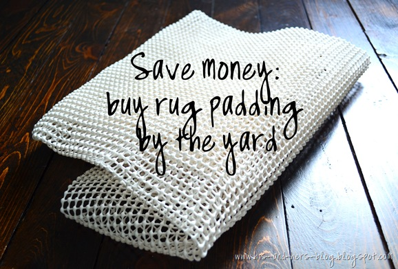 buy rug padding by the yard