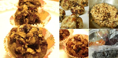 View fruit and nut truffles