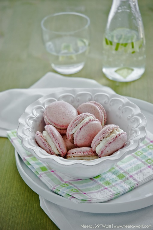 Raspberry Coconut Macarons (0096) by Meeta K. Wolff