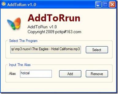 AddToRun per creare comandi Esegui personalizzati