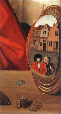 Détail du miroir de Pétrus Christus