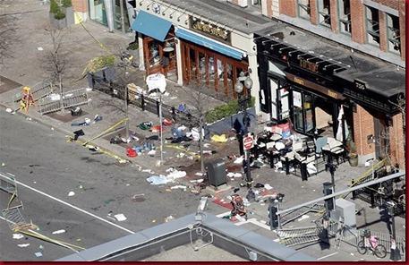 Foto Pasca Ledakan Di Boston Amerika Serikat