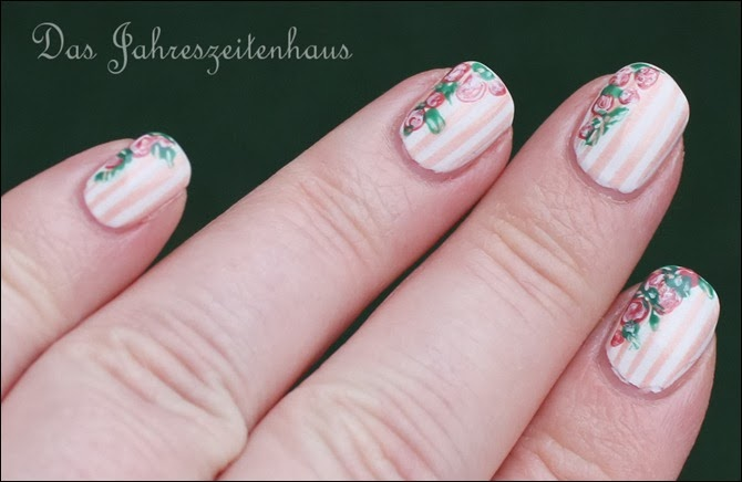 In Bloom Nail Art Roses Vintage Spring Design