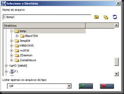 Seleção de Diretório com arquivos GIF
