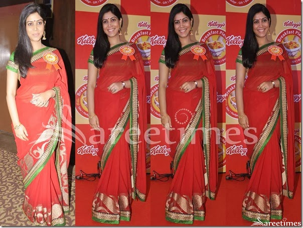 Sakshi_Tiwari_Red_Georgette_Saree