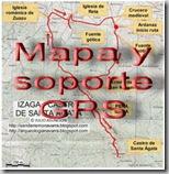 Mapa y soporte GPS - Mendizar - Selva de Irati