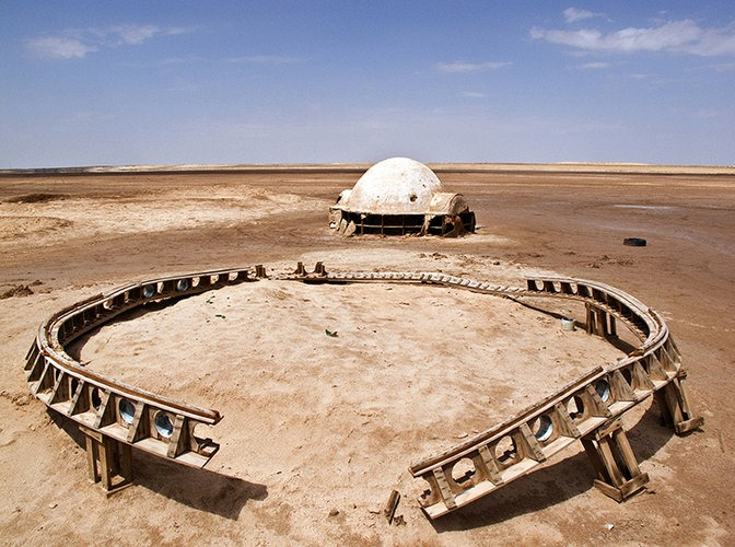 Abandoned Star Wars Sets photographed by Rä di Martino 1