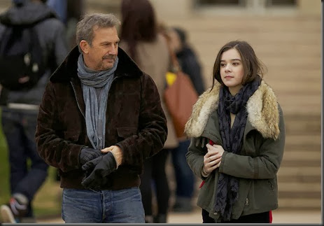 "M096  	(Left to right.) KEVIN COSTNER and HAILEE STEINFELD star in Relativity Media's ""THREE DAYS TO KILL "". <br />© 2013 – 3DTK Inc.  Photo credit: Julian Torres<br />"