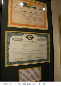 'Green Bay Packers stock certificates' photo (c) 2010, Matt McGee - license: http://creativecommons.org/licenses/by-nd/2.0/
