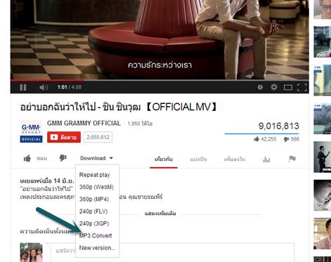 การดาวน์โหลด youtube เป็น mp4,flv,mp3 บน Google chorme