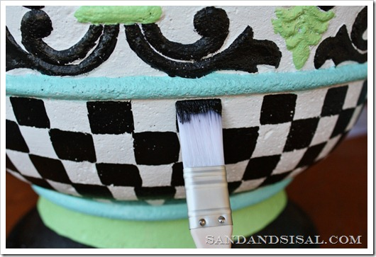 How to Hand Paint a Fiberglass Planter