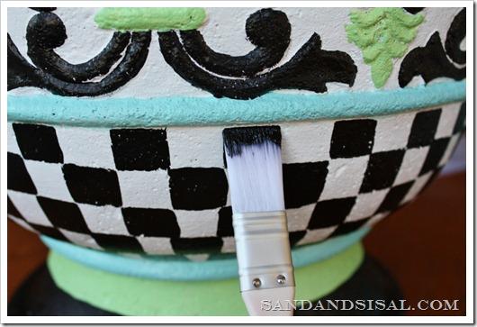How to Hand Paint a Fiberglass Planter