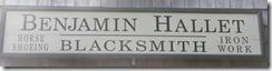 Cape Cod Yarmouthport blacksmith shop sign