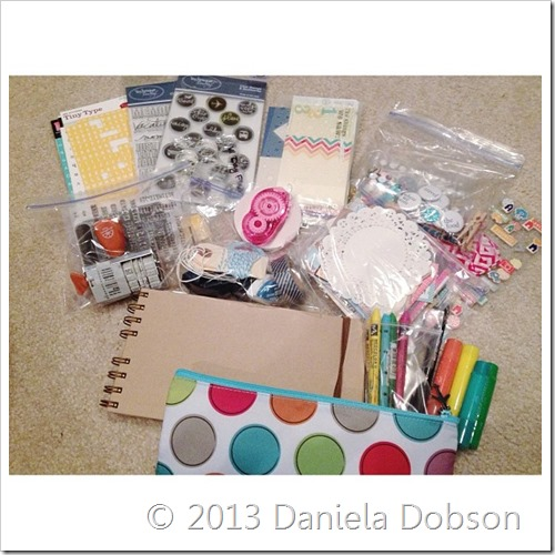 Travel album kit supplies Daniela Dobson