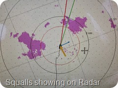012 Squalls showing on Radar