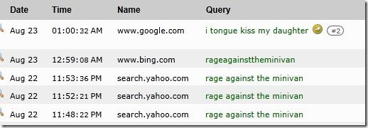 google search on RATM