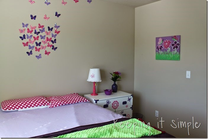 butterfly and flower painted canvas #DecoArt (1)
