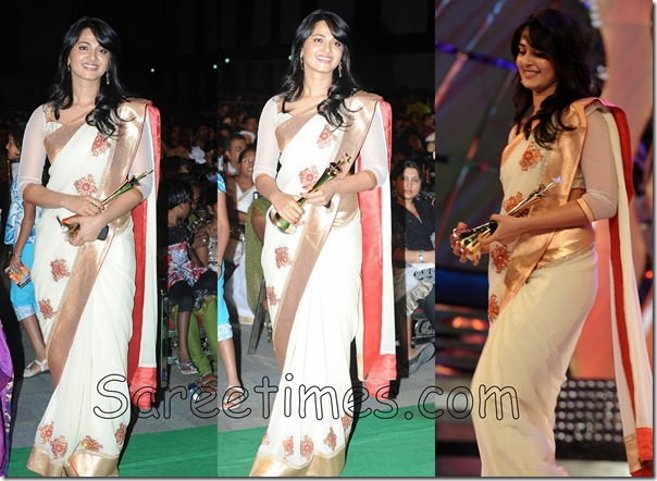 Anushka-White_Saree