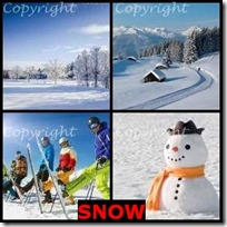 SNOW- 4 Pics 1 Word Answers 3 Letters
