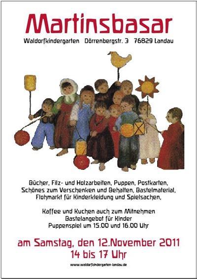 Plakat Martinsbasar Kindergarten