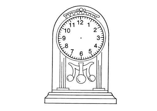 Dibujo de reloj para colorear - Dibujos de relojes para imprimir ...