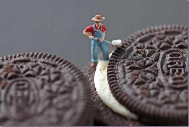 Cenas-Reproduzidas-alimentos-Miniatura-Biscoito-Oreo